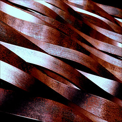 the red sea (Reflectory Images) Tags: ocean red sea brown white abstract black water metal iron waves wind stripes curves wave minimal abstraction railing minimalism curve reflectory