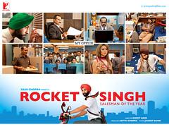 [Poster for Rocket Singh with Rocket Singh, Shimit Amin, Ranbir Kapoor, Mukesh Bhatt 1, D Santosh, Gauahar Khan, Naveen Kaushik, Manish Chaudhari]