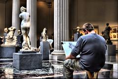 The Artist (31LKiloKilo) Tags: art nikon gallery candid d100 met hdr metropolitanmuseumofart