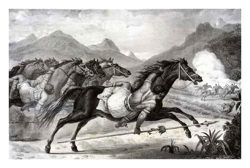 031-Carga de caballeria de los Guaycurus-Voyage pittoresque et historique au Brésil- Jean Baptiste Debret 1834-1839