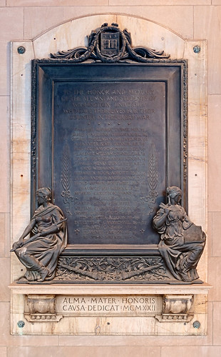 Washington University, in Saint Louis, Missouri, USA - war memorial plaque
