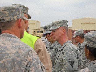 Command Sgt. Maj James Lambert, 3rdMedcom, visits troops in Iraq