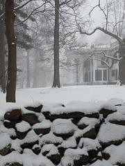 Winter White (donsutherland1) Tags: winter snow ny newyork fog architecture january rye stonewall newyearsday 2010 1831 greekrevival nationalhistoriclandmark january1 parsonshouse anawesomeshot lounsberrymansion