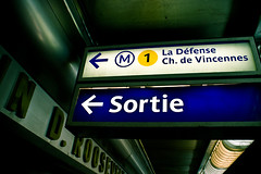 //EXIT (Emerge Studios) Tags: blue paris france green sign photography metro sortie exit studios emerge sony350 emergestudios