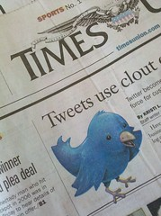 The tweet bird headlined my morning paper