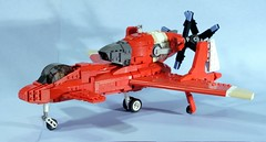 red (psiaki) Tags: airplane wings fighter lego moc pusher honneamise