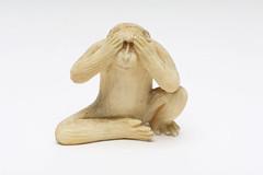 Ivory okimono 'See no evil', Japan, OJ366