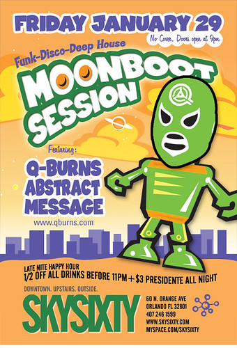 Friday, January 29 - Moonboot Session at SkySixty, Orlando FL
