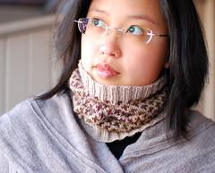 Beauchamp Cowl - DK weight (cosmicpluto) Tags: design knitting stranded beauchamp cowl january2010