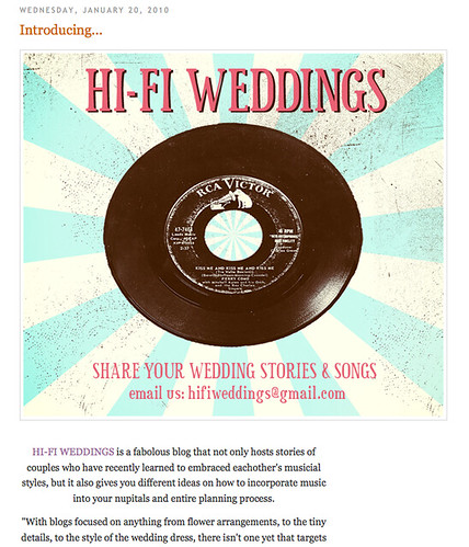 Hi-Fi Weddings: Featured!