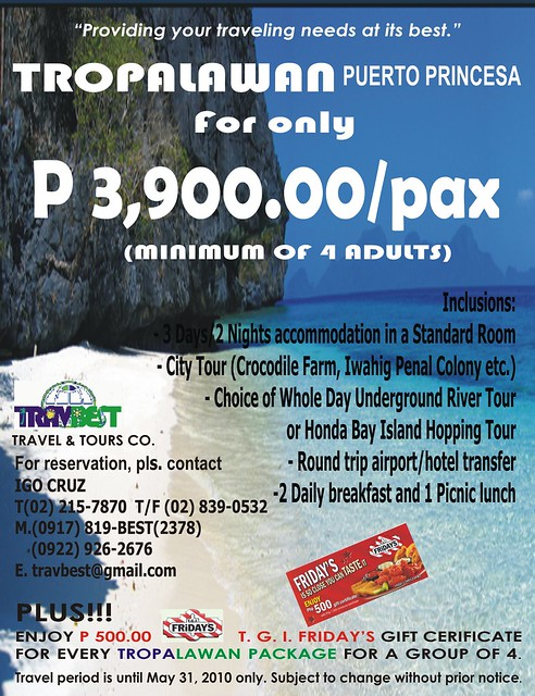 TROPA PUERTO PRINCESA2010 by TRAVBEST TRAVEL amp TOURS