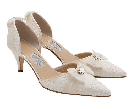 Designer Bridal Shoes With Ribbon-Ribbon Decoration