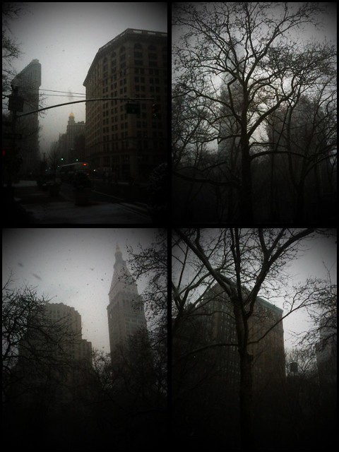 Flatiron snow day #walkingtoworktoday