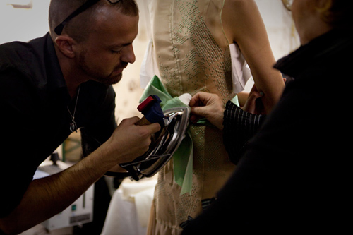 julien fournié, haute couture, backstages, fashion week