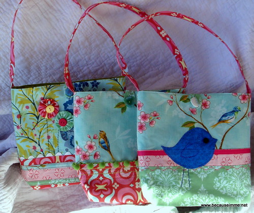 3 little purses for little girls