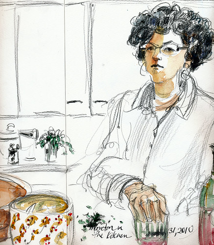 Moreton in the kitchen (center)