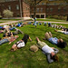 "Class being taught outside Olin<a href=""http://farm3.static.flickr.com/2725/4328422920_7110e2a195_o.jpg"" title=""High res"">∝</a>"