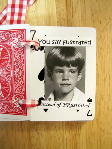 You say fustrated Instead of FRustrated