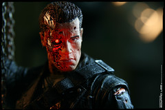"7"" Terminator T-800 (Final Battle) (EdwardLee's collection) Tags: 2 movie toy toys actionfigure day action arnold schwarzenegger collection figure terminator judgment t2 neca t800 endoskeleton 400d edwardlees"