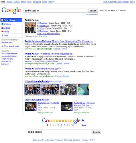 Google New Layout