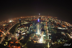 Kuwait City (Sadeq Nader Abul) Tags: city fish eye canon eos lights view mark fisheye ii 5d kuwait nader sadeq   abul