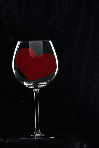 Heart in Wine Glass