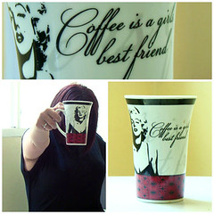 Coffe is a girls best friend (*JuanaP_351) Tags: amigos caf marilyn noche is friend best monroe coffe insomnio amistad gril prespectiva juana tasa excusa juanap