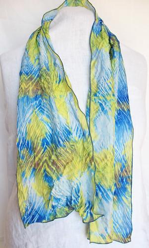 shibori dyed scarf