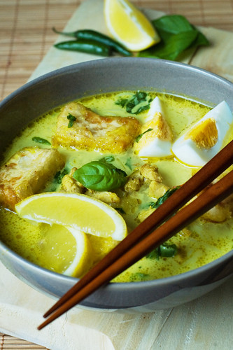 Malaysian Chicken and Tofu Laksa 1/2