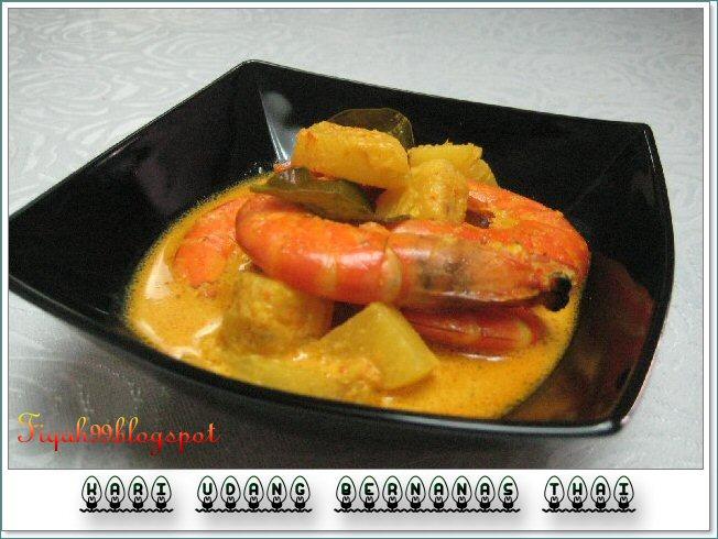 resepi laksa siam. kari udg Thai