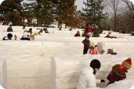 Ice maze at Jacques Cartier Park