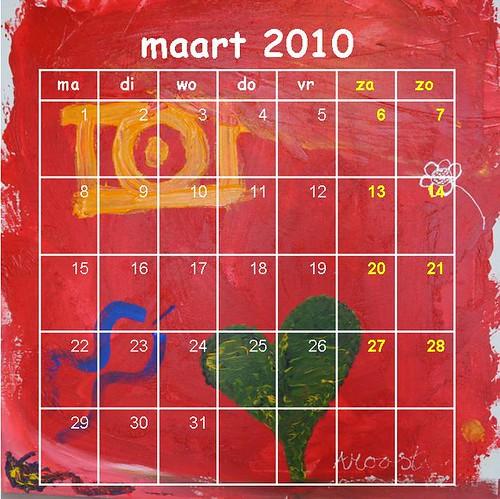 kalender 2010,  maart