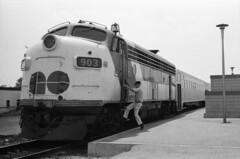 Scan10541cc (citatus) Tags: gotrain diesel funit pickering toront unionstation bw 1970 minolta srt 102 locomotive 903