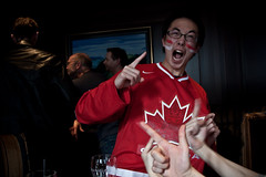 CANADA WINS MENS' HOCKEY GOLD! (john-l) Tags: winter red canada men hockey face proud bar vancouver happy gold golden leaf maple goal interesting paint games pride explore national jubilant jersey cheer olympics 32 interest ot crosby 2010 overtime ecstatic explored