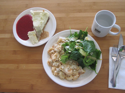 Tortellini, salad, cheesecake from the bistro - $6