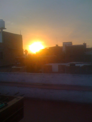 sunset over huanchaco (my friends hostel)