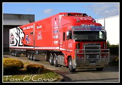 Holden Racing Team (Tom O'Connor.) Tags: light sun truck bay team pix afternoon fuji mark south parking fine australia evolution racing adelaide trucks 500 bp v8 trucking holden 2010 supercars truckers skaife immaculate argosy wingfield hrt freightliner clipsal truckwash bdouble s5700
