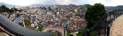 Nagasaki panorama from the Clover Garden elevator