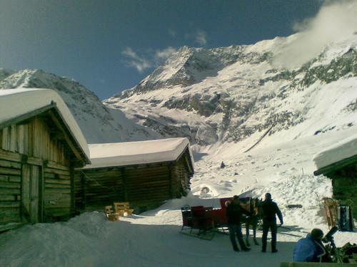 Blick auf den Talschluss von Lazins und die  Hohe Wilde (3.480 m)
