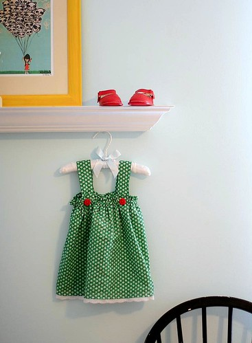 nursery + green dress