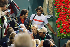 Rafa & Roger were chatting the whole way off t...