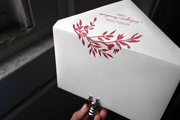 Letterpress Printed Envelope - Smock