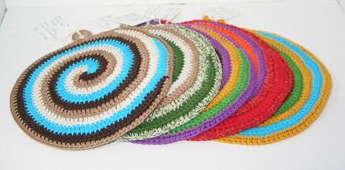 A row of crochet