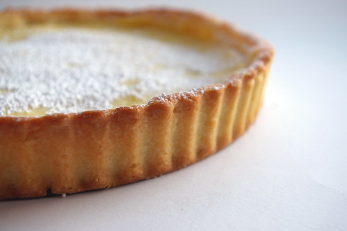 Lemon Curd Tart - side