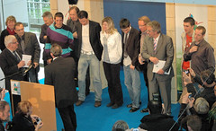 Vincent Gauthier reçu au Conseil Général du Jura avec les sélectionnés olympiques