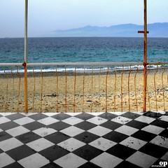 Empty Beach (Osvaldo_Zoom) Tags: sea beach canon desert terrace empty sicily calabria g7 messinastrait