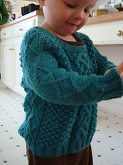 Aran sweater (thislambknits) Tags: baby knit cable cables gift aran cabled aurora8
