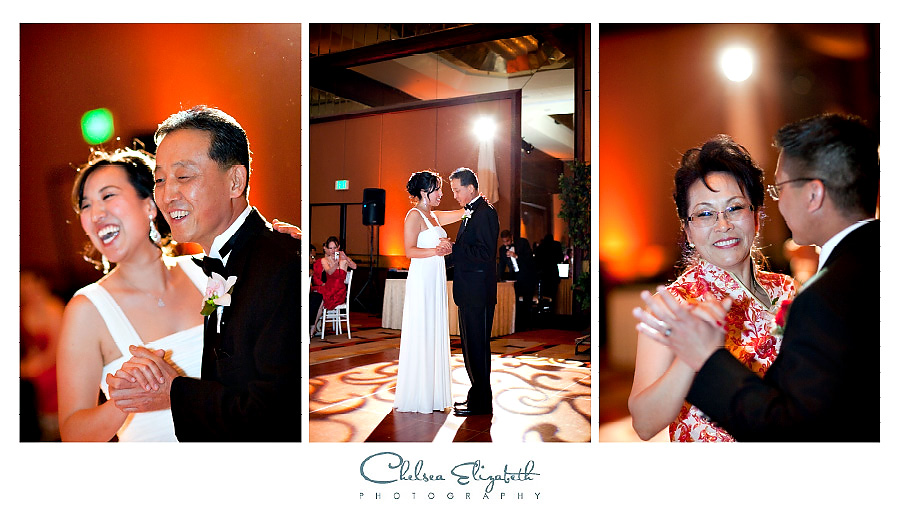 father daughter dance at los angeles korean and chinese wedding reception
