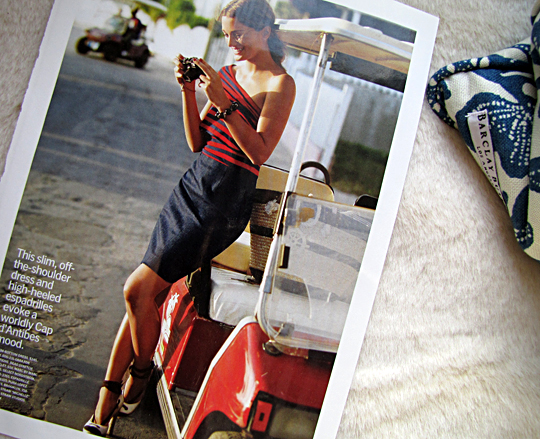 DKNY one shoulder striped denim bottom dress