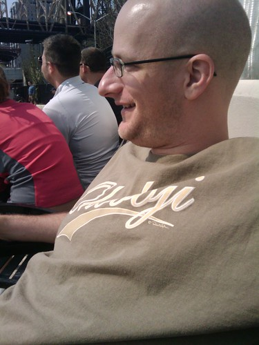 Jason in an Okoboji tshirt